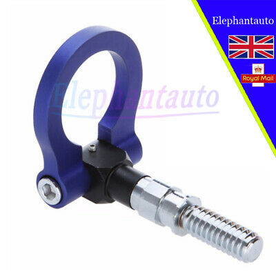 Racing Tow Towing Hanger Hook for BMW European Car Auto Trailer Ring blue 1pcs