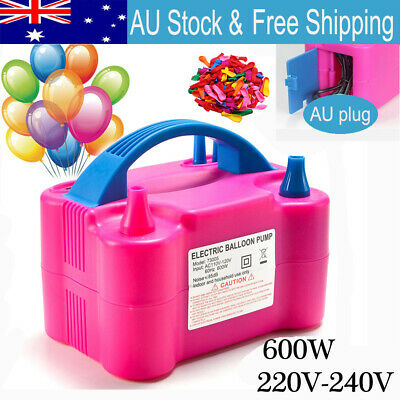 Portable Electric Balloon Inflator Pump Two Nozzle High Power Air Blower Party
