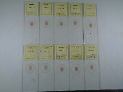 Set of 10 vintage Gerrard & Haig prepared mammalian microscope slides LOTMRC2VGV