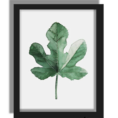 1x Tropical Plants Leaves Canvas Vintage Poster Wall Art Prints Universal Decor
