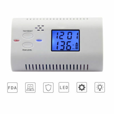 LCD Display CO Carbon Monoxide Detector Poisoning Warning Sensor Monitor Alarm