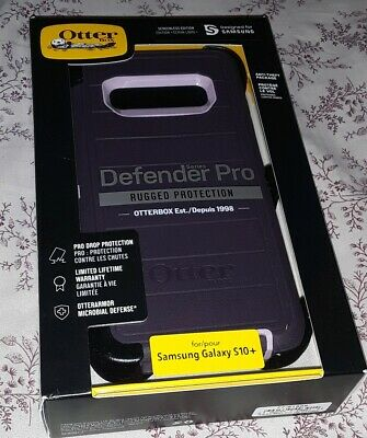 Otterbox Defender pro Case Holster Samsung Galaxy S10 PLUS Purple new sealed