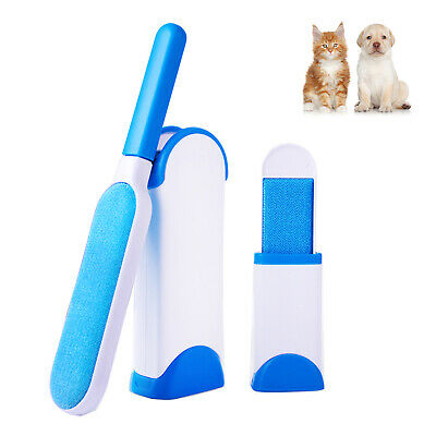Pet Hair Remover Double-Side Fur & Lint Removal Tool with Self-Cleaning Base