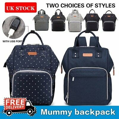 Mummy Baby Bag Diaper Backpack Diaper Nappy Changing Travel Waterproof Multi-use