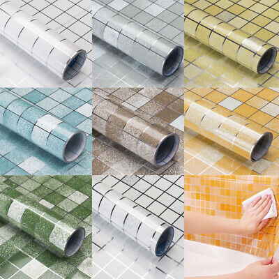 New Waterproof Oil-proof Wall Paper Tile Stickers Self adhesive Kitchen & Dining