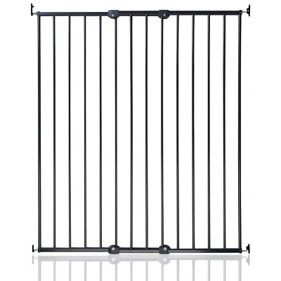 Safetots Extra Tall Screw Fitted Pet Safety Gate, Black