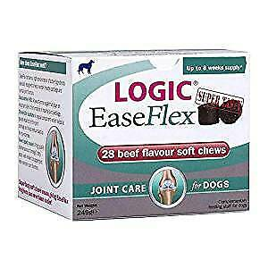 LOGIC EASEFLEX JOINT CARE FOR DOGS - 28 SUPER TASTY SOFT CHEWS Free Post