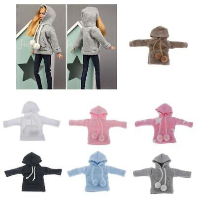 Multicolor 1/6 Dolls Hoodie Sweatshirt Clothes for Blythe Doll Dress up