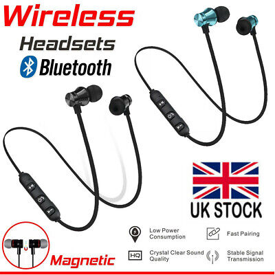 Wireless Bluetooth V4.2 Magnetic Sport In-ear Earphone Headset Stereo Headphones