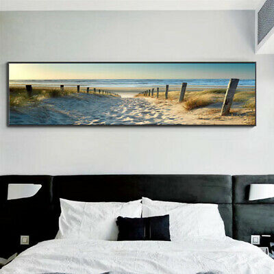 Decorative Canvas Print Wall Art Ocean Beach Nature Landscape Picture Uk