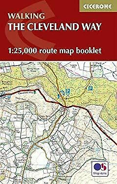 The Cleveland Way Map Booklet: 1:25,000 OS Route Mapping by Dillon, Paddy