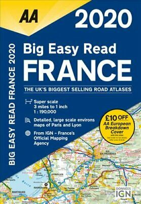 AA Big Easy Read France 2020 9780749581374 | Brand New | Free UK Shipping