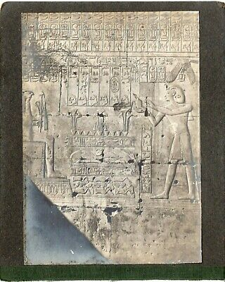 EGYPT VINTAGE PHOTO. Inscriptions on the walls of Pharaonic temples  LOT 4