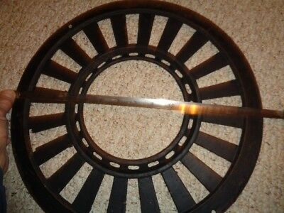 "15 1/2"" Vintage Round Heat Vent - Antique Furnace Grate - Primitive"