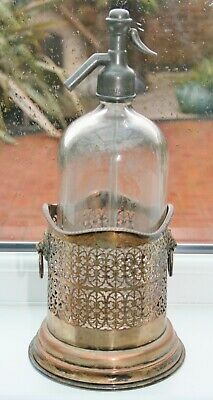 Antique Silver Plated Soda Syphon Sleeve/Coaster/Stand or Champage Bottle Holder