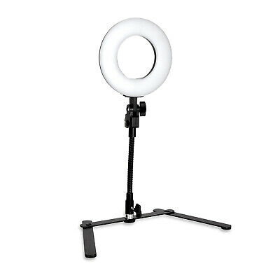 Dimmable Brightness Mini LED Ring Light with Table top Flexible Gooseneck Stand