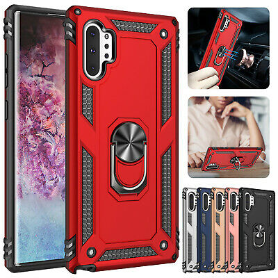 For Samsung Galaxy Note 10 10 Plus Magnetic Hybrid Ring Holder Stand Case Cover