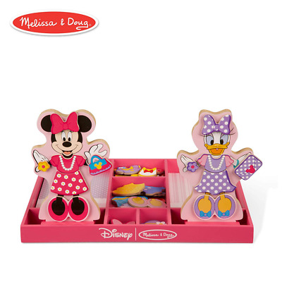 Melissa Doug Royal Family Wooden Poseable Doll Set For Castle And
