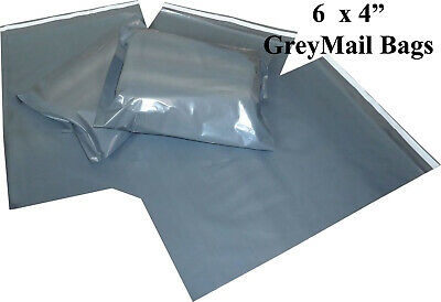 "6X4""- 105X160MM Strong Grey Mailing Bags Poly Postage Self Sealing Post All Size"