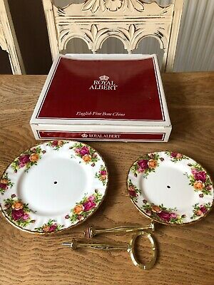Royal Albert OLD COUNTRY ROSES 2 tier cake plate stand