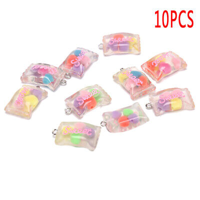 10x/Set Resin Sweet Candy Charms Pendants Jewelry Findings DIY Craft Making CO