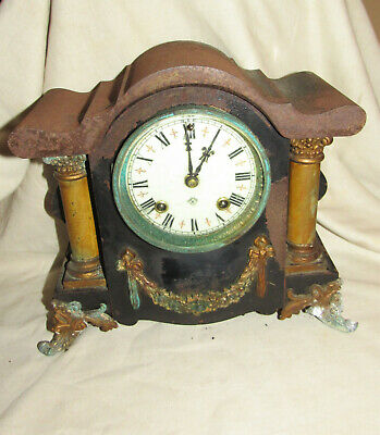 Ansonia clock Co Cast iron cased mantel clock restoration project