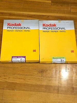 Lot of 2 Kodak Paper - Kodak Polyfiber & Polycontrast Rapid II RC - OPEN/EXP