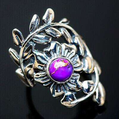Purple Copper Turquoise 925 Sterling Silver Ring Size 6 Ana Co Jewelry R956577