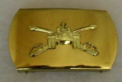 """1940'S Armored Cavalry Officer's Belt Buckle 2 3/4"""" Long"""