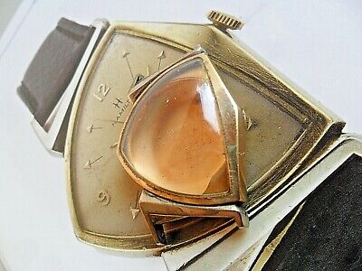 Clean HTF Vintage 1950's Hamilton Pacer 10k Gold Filled Watch Case & Crystal