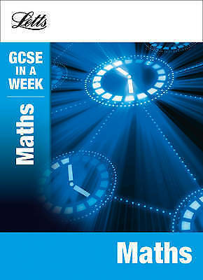 Very Good, Maths (Letts GCSE in a Week Revision Guides), Mapp, Fiona, Book
