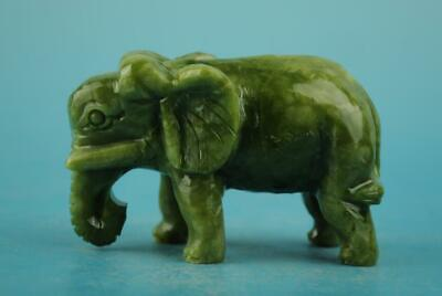 Chinese old natural jade hand-carved elephant statue b01