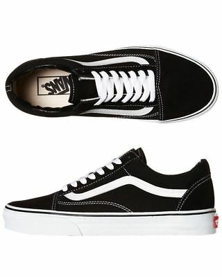 Vans Shoes Old Skool Black White USA SIZE Old School NEW Skateboard Sneakers AU