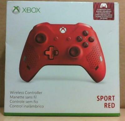 NEW OPEN BOX Microsoft Xbox One Wireless Controller, Sport Red Edition $75
