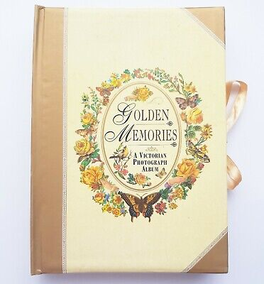 Golden Memories ~ A Victorian Photograph Album ~ with cut outs for photos