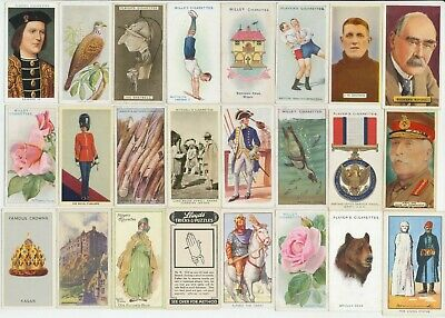 105 Cigarette Cards c.1910-1930's (VG-VG+) (Various Issuers & Subjects) All Diff
