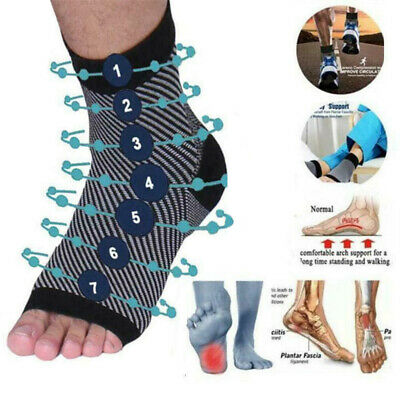 Dr Socks Soothers Anti-Fatigue Compression Foot Sleeve Support Brace Sock Best