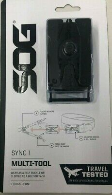 NEW SOG Sync I Traveler Belt Buckle Multi-Tool NO KNIFE TSA COMPLIANT Pliers