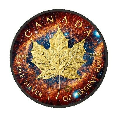 HELIX NEBULA Maple Leaf Space Collection 1 Oz Silver Coin 5$ Canada 2016