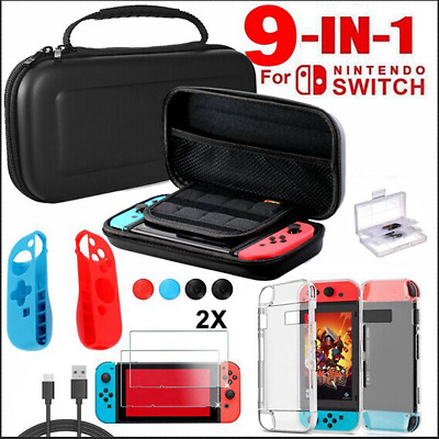 9in1 Nintendo Switch Carry Bag Case EVA Hard Case Game Console Protector Shell