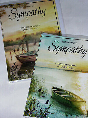 SYMPATHY CARDS 12, 2 designs x 6 just 28p per card, FOILED,WRAPPED ( B190/91