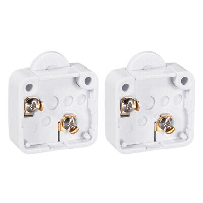 Wardrobe Door Light Switch Momentary Cabinet Switch NC 110-250V 2A White 2 Pcs
