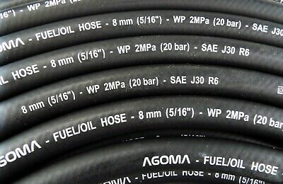 8MM RUBBER REINFORCED FUEL HOSE/PIPE FOR ENGINEs,OIL,GAS,FUEL INJECTION
