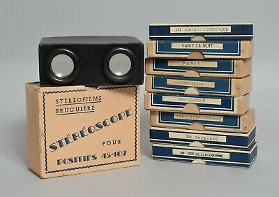 A Really Superb Antique French Stereoview Bruguiere With Slides Photographs