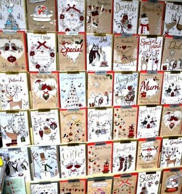 WEEKEND SPECIAL CHRISTMAS CHAMPAGNE HANDMADE CARDS x 300, JUST 55p SRP £3.99
