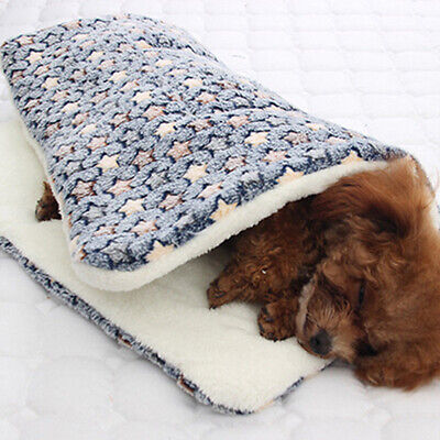 Winter Dog Cat Bed Mat Pet Cushion Blanket Warm Puppy Cat Fleece Sleeping Pads Z