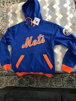 NEW YORK METS Majestic Authentic Pullover Hoodie Mens Size Small MSRP $79