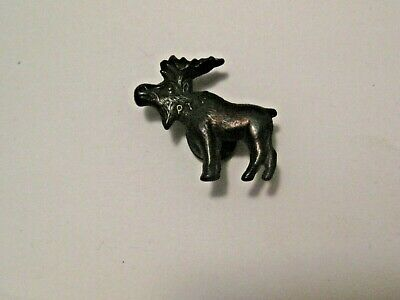 Vintage Bull Moose Button ~ Ely Minnesota Estate Buy Out ~ Very Old Collectible