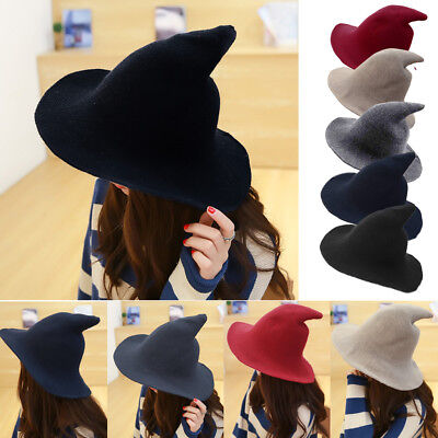 Modern Witch Hat Made From High Quality Sheep Wool Halloween Witch Hat BJ
