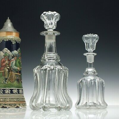 Large 19th Century Victorian Glass Decanter c1860